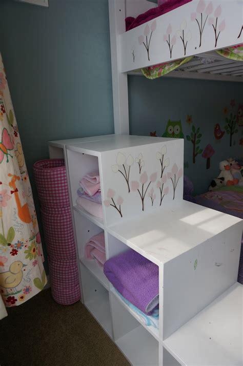 ana white kids bunk bed  storage stairs diy projects