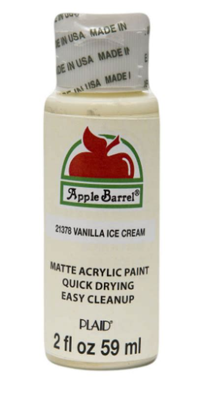 vanilla apple barrel acrylic paint new items
