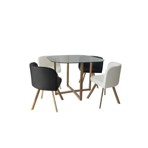 table cuisine encastrable ensemble table 4 chaises encastrable noir et blanc flen