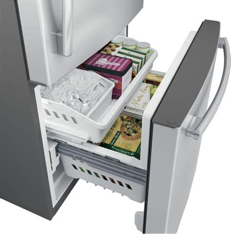 bottom drawer freezer ge gde25eskss 33 inch bottom mount refrigerator with 24 9