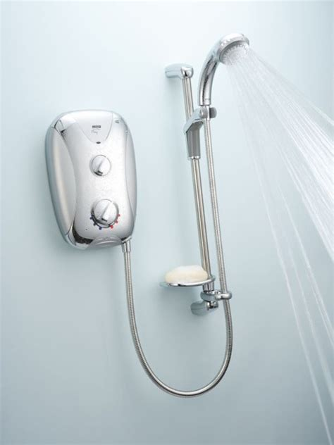 mira play 9 5 kw electric shower mira play 9 5kw in satin chrome with chrome panel mira