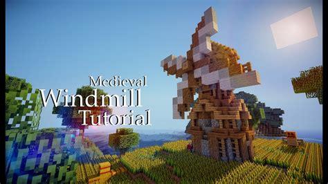 minecraft medieval windmill tutorial design  youtube