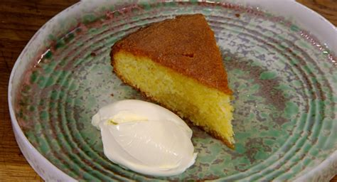 Named after queen victoria, this sponge cake can be made by two different methods, each using the same basic ingredients. James Martin lemon and Rosemary polenta cake with creme fraiche recipe on James Martin's ...