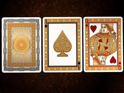 Cards Aurora Playing Gold Metallic Rare Foil