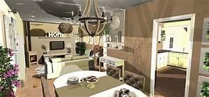 deco salon nature chic With amenagement interieur salon salle a manger