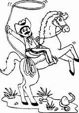 Coloring Cowboy Mustache Texas Horses Cheval Coloriage Cowboys Sun Indians Coloringsun Virtuel Template sketch template