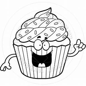 White Cupcake Clipart - Clipart Suggest