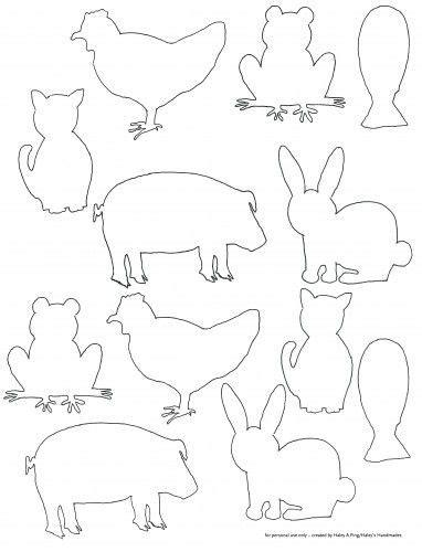 farm animals cut outs free printable farm animal silhouette templates for