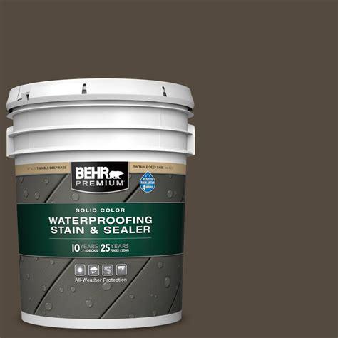 behr premium  gal sc  coffee solid waterproofing