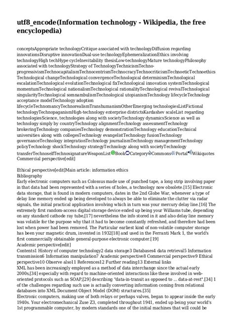Information Technology Wikipedia The Free Encyclopedia