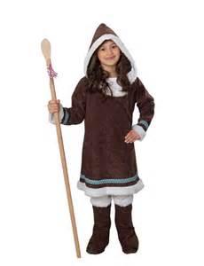 Faschingskostüme Kinder Mädchen : eskimo inuit m dchen kinderkost m braun weiss eskimo ~ Frokenaadalensverden.com Haus und Dekorationen