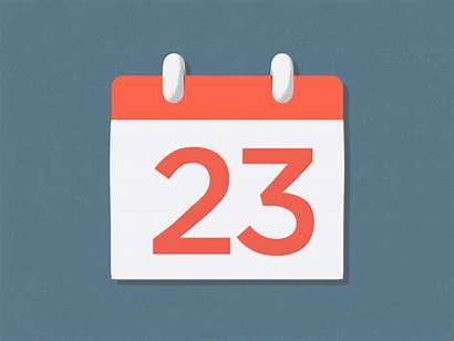 Calendar Animation Dribbble Days Animations Flip Google