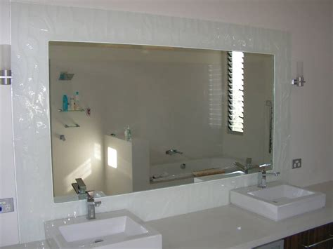 Big Frameless Beveled Mirror