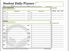 5+ student planner printable Ganttchart Template