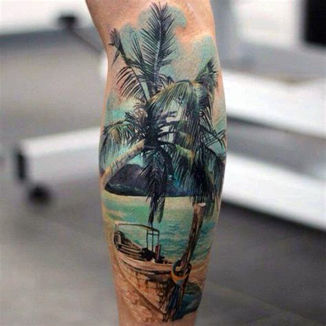 Palm Tree Tattoo Designs for Men