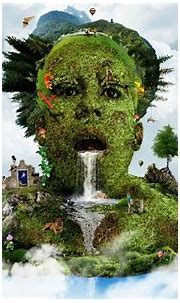 HD 3D Man Face Forest Nature Wallpapers - Cool Wallpapers ...