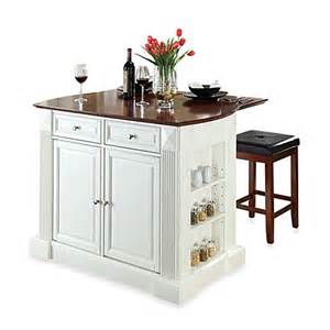 drop leaf kitchen island crosley drop leaf breakfast bar top kitchen island with cherry square seat stools bed bath