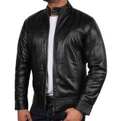 men s black leather biker jacket bradley