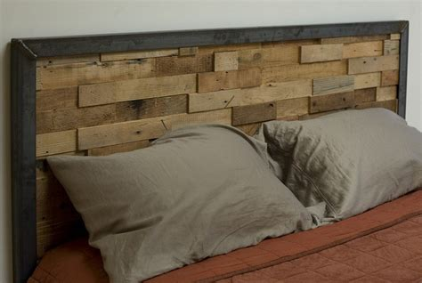 headboard how to make a reclaimed wood headboard frame loom plans Industrial