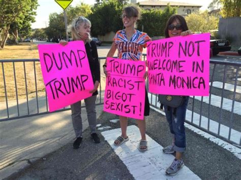 Santa Monica Welcomes Donald Trump: 'Racist Bigot Sexist!'