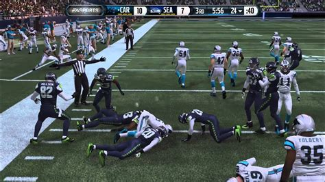 madden nfl  gameplay seahawks  panthers youtube