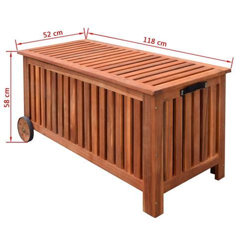 Box Aus Holz by Vidaxl Auflagenbox Gartenbox Holz 118x52x58 Cm G 252 Nstig