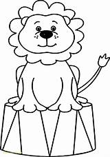 Circus Coloring Clown Animals Lion Elephant Tent Drawing Bubble Guppies Printable Sheets Animal Ringmaster Tents Cartoon Preschool Adult Adults Getdrawings sketch template