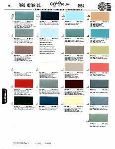 1964 Ford Paint Chips