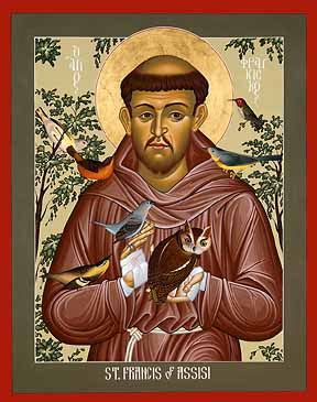 st francis of assisi icon st francis icon jpg