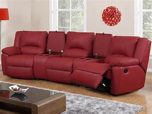 canape 3 places et fauteuil relax cuir 3 coloris aroma With canapé cuir rouge relax