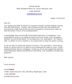sample resignation letter smart letters