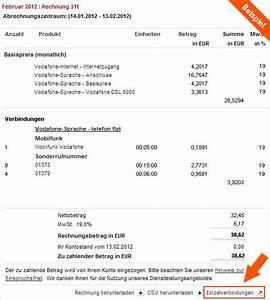 Vodafone Rechnung Ausdrucken : hilfe verbindungs bersicht einzelverbindungsnachweis rechnung ~ Themetempest.com Abrechnung