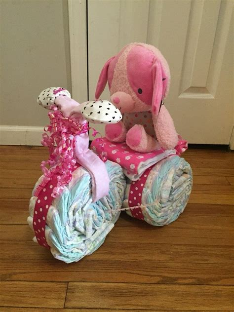 tricycle diaper cake craft projects