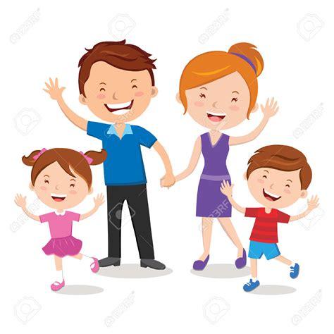 portrait clipart family cartoon pencil   color