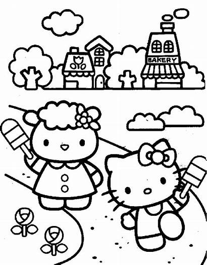 Coloring Kitty Hello