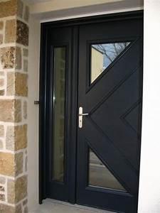 porte dentree exterieur aluminium tableau isolant thermique With porte d entrée alu avec meuble salle bain vintage