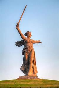 U0026 39 The Motherland Calls  U0026 39  Monument In Volgograd  Russia Editorial Stock Image