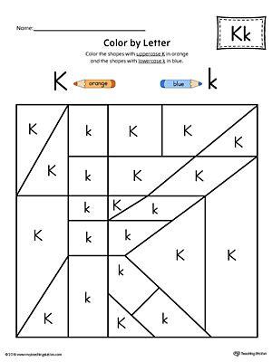 letter k worksheets uppercase letter k template printable myteachingstation 9509