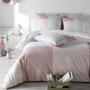 Parure De Lit Rose Et Gris : parure de lit luna rose c design home textile ~ Teatrodelosmanantiales.com Idées de Décoration