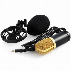 Pro Condenser Microphone Kit Bm700 With Shock Mount Sound
