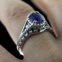 sapphire engagement ring pop of color the gemstone engagement ring trend continues empress antique engagement ring