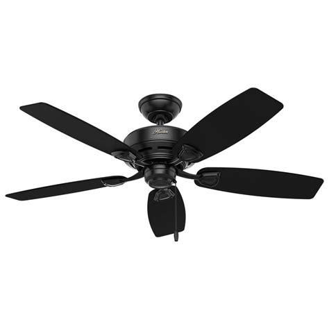 48 outdoor ceiling fan hunter sea wind 48 in indoor outdoor matte black ceiling