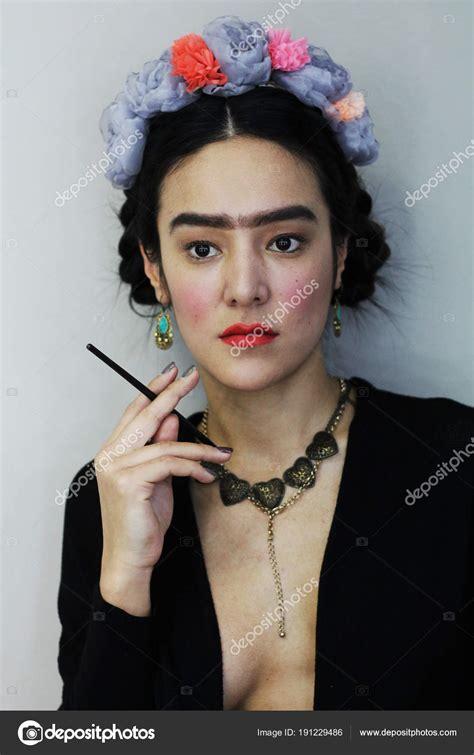 Afbeelding Van Een Mexicaanse Kunstenaar Frida Kahlo Een