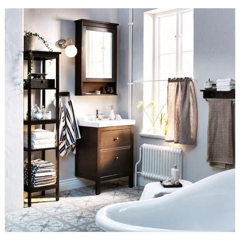 hemnes odensvik bathroom vanity black brown stained
