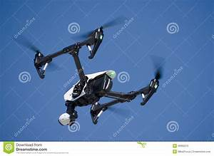 High Tech Drone Flying stock image. Image of high ...