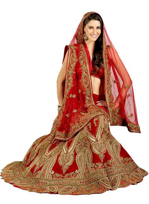 red bridal lehenga png  pic