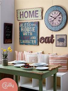 25 best ideas about wall clock decor on pinterest large With kitchen cabinets lowes with cool wall art for living room