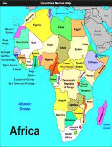 Africa Map with Countries and Capitals