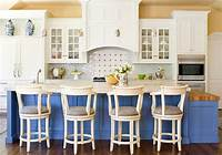 blue and white kitchen Blue And White Interiors: Living Rooms, Kitchens, Bedrooms ...