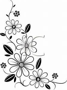 Black And White Flower Border Clipart Clipart Panda Free Clipart Images